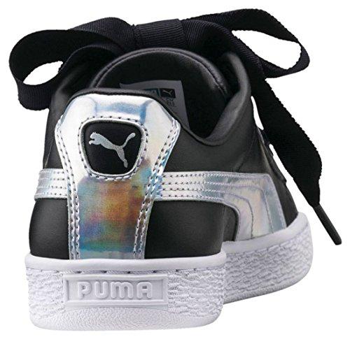 Patent Basse Basket Donna Nero Scarpe Wn's Ginnastica Heart Da Puma argento q06Cx7EwE