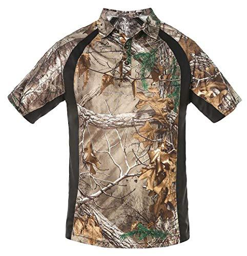 Earthletics Men's SS Active Polo Shirt M Black