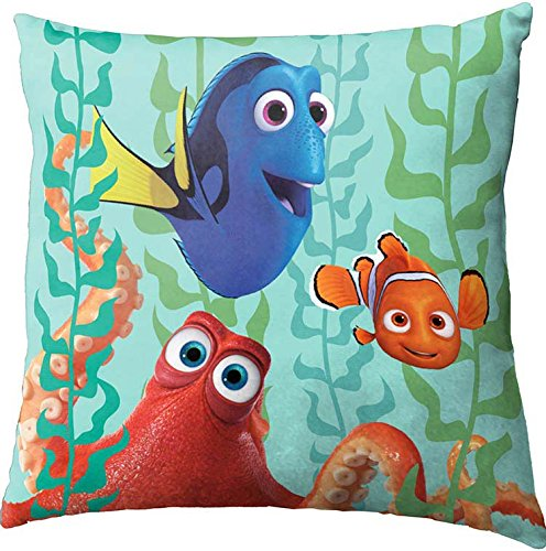 Disney/Pixar Finding Dory/Nemo with Octopus 12'' Square Toss Pillow
