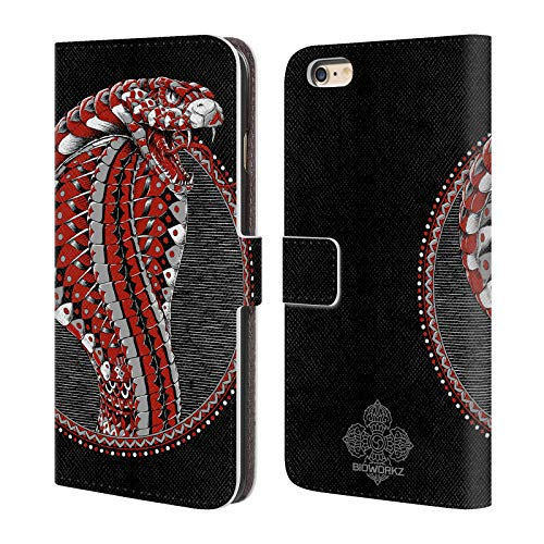 Official Bioworkz Ornate Cobra Coloured Venom Leather Book Wallet Case Cover for iPhone 6 Plus/iPhone 6s Plus