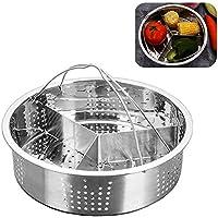 Trio - Juego de separadores de acero inoxidable para cesta de vapor de acero inoxidable, accesorios de cocina duraderos…