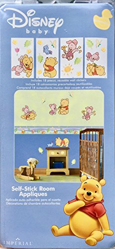 Disney Baby Self-Stick Removable Room Sticker Appliques ~ Winnie the Pooh Pkg of 18 (GAPP1794) (The Wallpaper Pooh Winnie Border Disney)