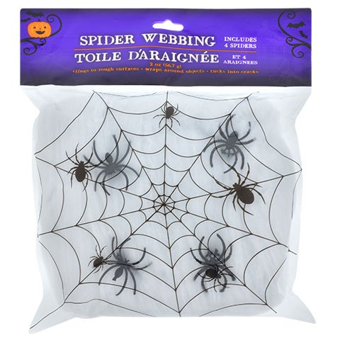 Halloween Fall Spooky Creepy Haunted House Kids Teen Toddlers Spider Web (Homemade Halloween Spider Web)