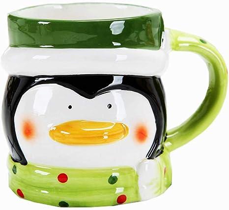 Amazon Com 3d Cute Cartoon Coffee Cup Holiday Funny Mug Christmas Ceramic Cup Penguin Coffee Cups Mugs