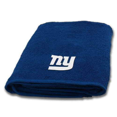 New York Giants NFL Applique Bath Towel