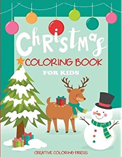 Christmas Coloring Book For Kids Big With Trees Santa Claus