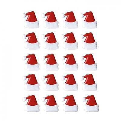 Artemio 11006430 20 Brads Christmas Santa's Hat