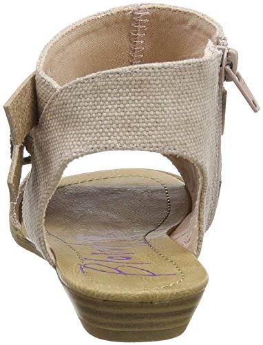 Blowfish Women's Balla Ankle Strap Sandals Pink (Blush Rancher Canvas/Dyecut) tM7F9guO