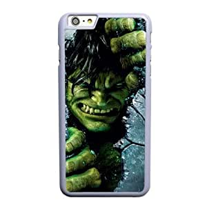 Custom made Case,Hulk Cell Phone Case for iPhone 6 6S plus 5.5 inch, White Case With Screen Protector (Tempered Glass) Free S-7310859