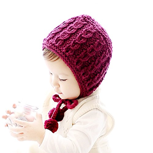 IMLECK Baby Infant Pure Wool Hand-Knit Hat (Bonnet Baby)