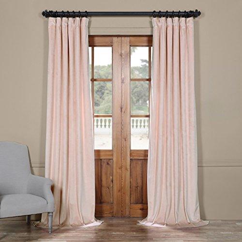 517v5nBKbIL - Half Price Drapes Vpyc-161207-84 Heritage Plush Velvet Curtain, 50 x 84, Ballet Pink