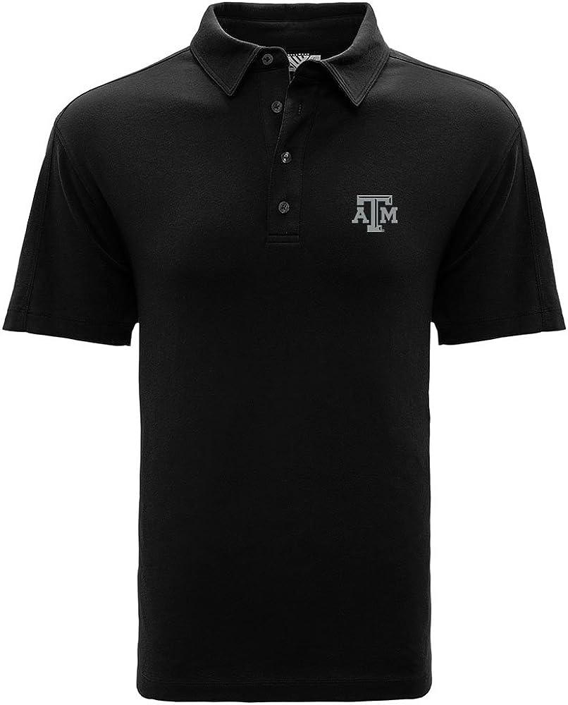 NCAA Texas A/&M Aggies Mens CB Dry Tec Franklin Stripe Polo,Large,Black