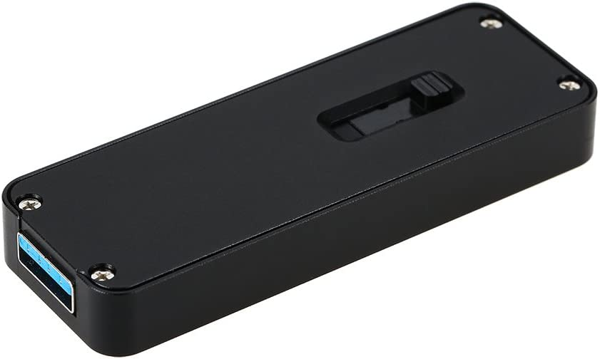 Docooler NGFF//M.2 SSD to USB 3.0 Type-A Portable Hard Drive Retractable External Enclosure Case