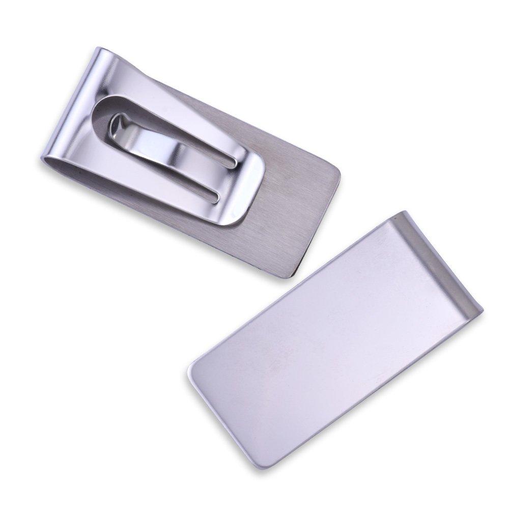 Rosebeading 5pcs 26557mm Fashion Metal money clips for men, stainless steel