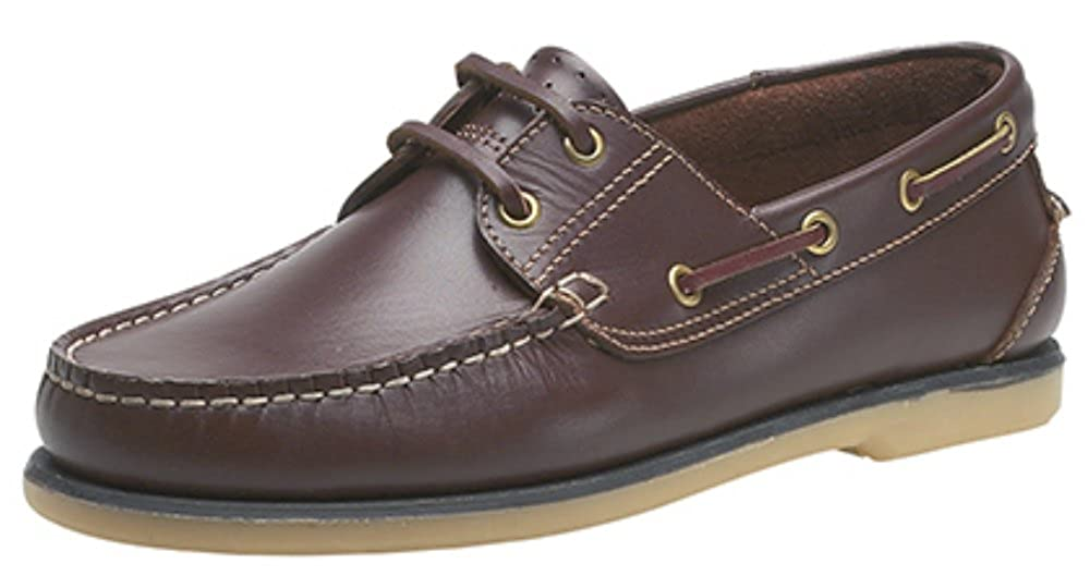 Mens Moccasin Boat Shoes Sizes 6-12. Brown Leather