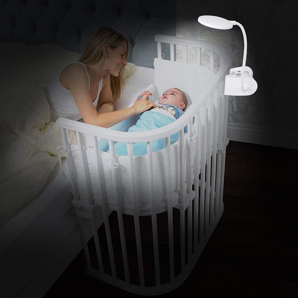 Clip auf Leselicht Computer lsmaa Bett Accering 18 LED-bewegliche Noten-Lampe batteriebetriebenes Buch-Licht mit 3 Helligkeitsstufen und 360 Flexible for Haus