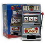 Trademark Poker Cherry Bonus Slot Machine Bank with Spinning Reels