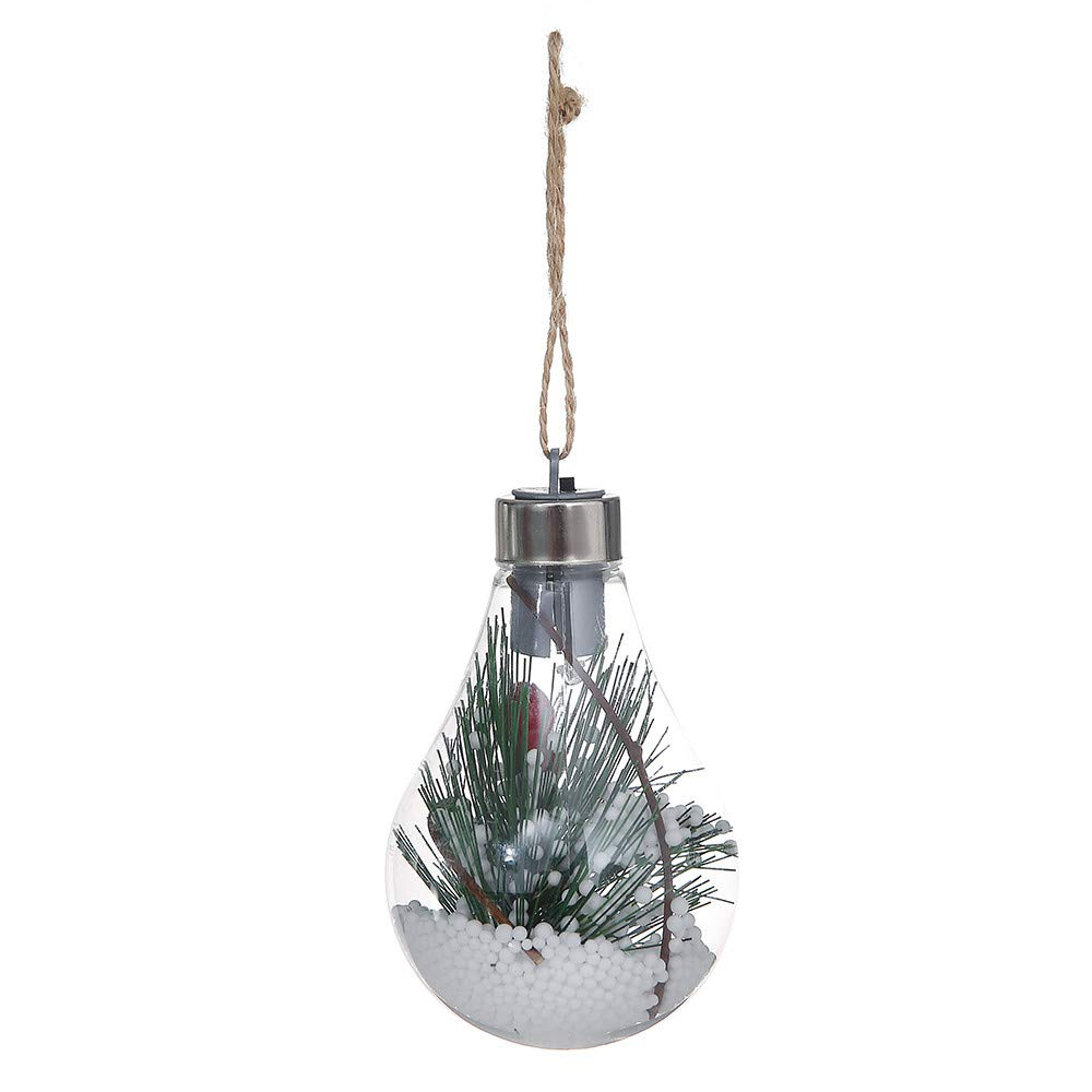 Xmas Tree Lamp,JDgoods Waterproof Hanging LED Bulb Christmas Tree Decoration Lamp Home Bedroom Night Light (C)