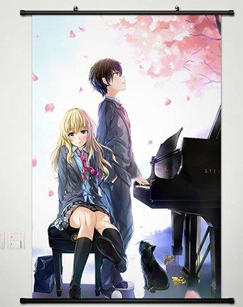 Home Decor Shigatsu Wa Kimi No Uso Your Lie In April Kaori Scroll Poster 236