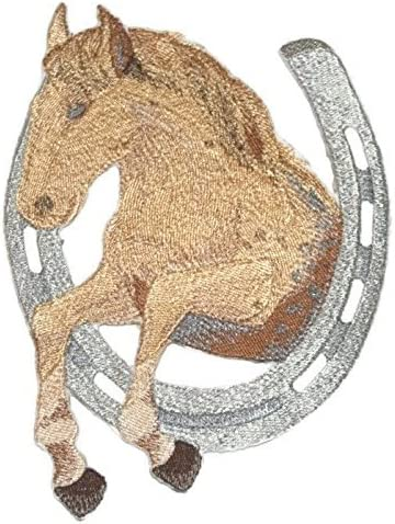 Horseshoe Patch Embroidered Horse Shoe  FAST USA SHIPPING