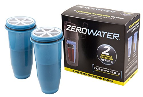 ZeroWater TUMBLER REPLACEMENT WATER FILTERS, for Portable ZEROWATER bottles & Tumblers 2 Pack