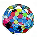 Huasen Home Ashtray Ashtray 3D Colorful Glass Color Printing Style Crystal Glass Fashion Creative Personality Gifts Living Room with Smoke Office Ashtray (Size : 15154cm)