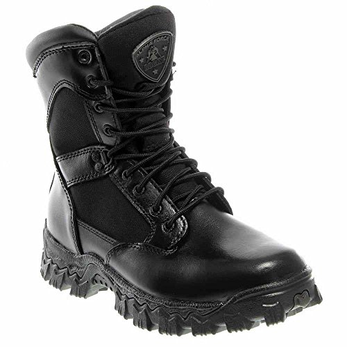 Rocky Alphaforce Boots (Rocky Men's Waterproof AlphaForce Work Boots, Black Leather, 8.5 EW)