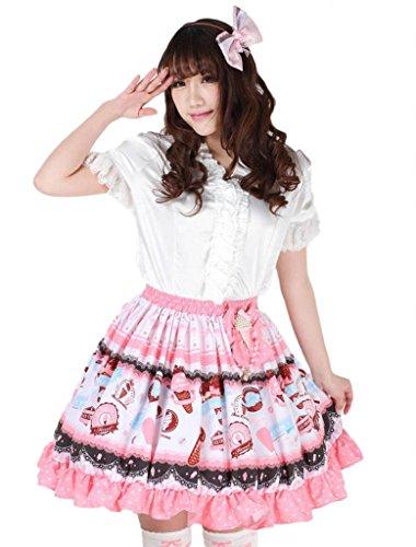 M4U Hime Elegant Lace Polyester Ruffles Lolita Skirts Lolita Skirt