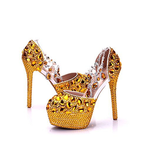 14cm Gold Plateforme Heel Minitoo femme qpTxR