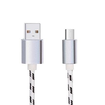 Lunasol Home 1M USB Tipo C Cable para Blackview BV8000 Pro / BV9000 / BV9000 Pro / BV9500 / BV9600 / P10000 Pro Mòvil Resistente, Nylon Trenzado Carga ...