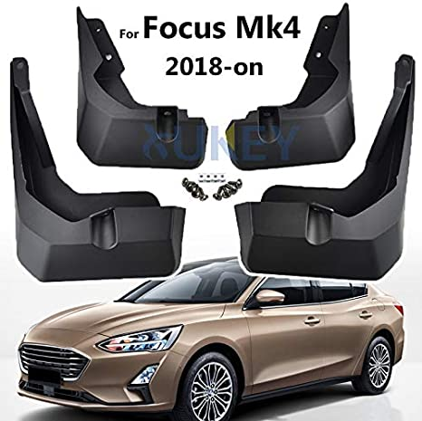 Tuqiang Car Front and Rear Mud Flaps Splash Guards Fender Mudguard for F ord Focus Hatchback 2012-2018 4Pcs