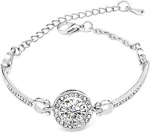 BOSYYSTRT Women Fashion Retro Rhinestone Flower Hollow Out Bracelet Bangle Bracelets