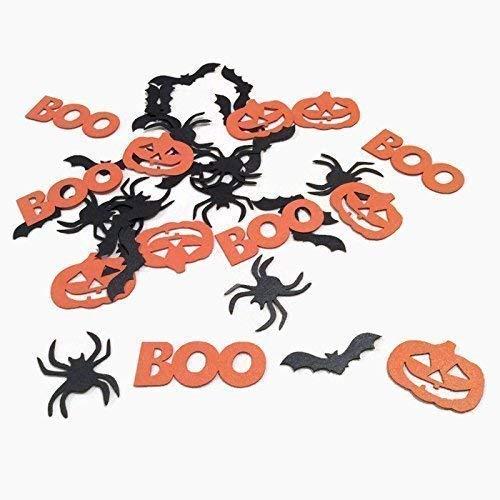 Halloween Confetti - Bats, Spiders, Jack-o-Lanterns, BOO - 100 Pieces ()