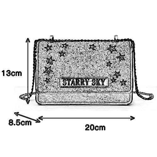 Woven PU//Polyester Fashion Soft face Chain Girl Slung Shoulder Simple Female Casual Embroidery Small Square Bag 20X8.5X13cm //-// DDSS Shoulder Bags