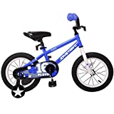 JOYSTAR Kids Bike for 3 4 5 Years Boys, 14 Inch Child Bicycle with Training Wheels, Children Cycle with Full Chain Guard & DIY Sticker
