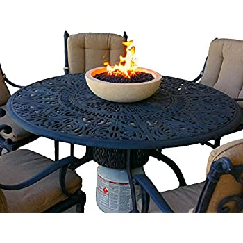 Long Burning Artisan Crafted Propane Fueled Table Top Fire Bowl