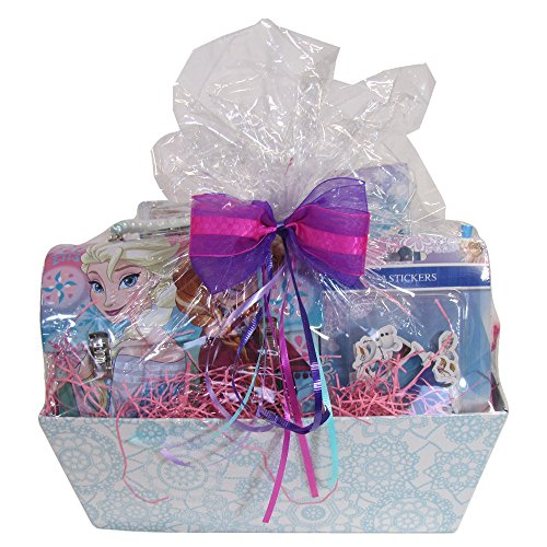 Easter Gift Basket Idea 10 Frozen Themed Items for Girls With Bracelet, Novelties, Tin Purse, Diary, Nail and Hair Accessories by SKash26ani (Image #2)