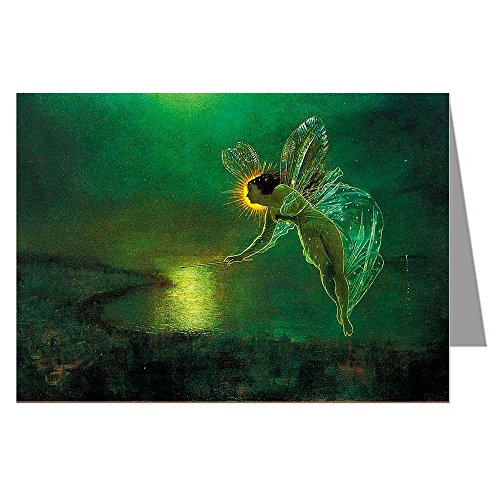 Twelve John Atkinson Grimshaw Note Cards of This 1879 Fairy Painting Titled Spirit of the Night