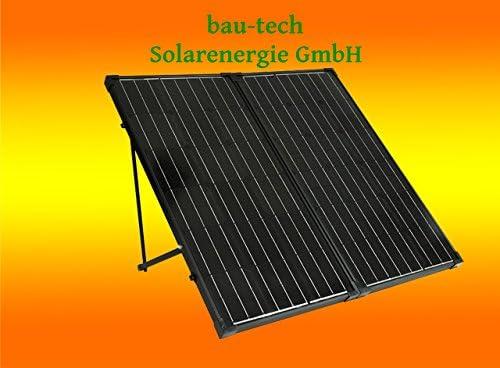 bau-tech Solarenergie 60Watt Solarkoffer für Wohnmobil Garten Freizeit, Solaranlage Komplettpaket GmbH