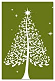 "Tree-Free Greetings EcoNotes 12-Count Christmas Card Set with Envelopes, 4"" x 6"", Starlight (93437)"