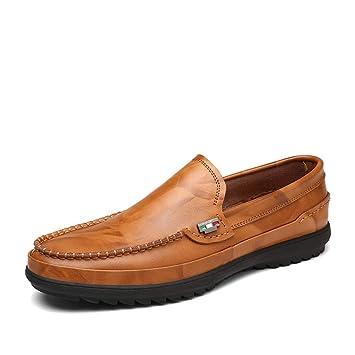 Xiazhi-shoes, Mocasines de Hombre, Suela de Cuero Suave Transpirable Informal y de Alta Gama Oxford (Color : Yellow Brown, tamaño : 40 EU): Amazon.es: Hogar