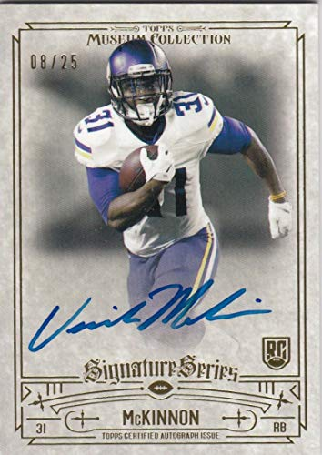 (2014 Topps Museum Collection Jerick Mckinnon #SSA-JMK NM Near Mint RC Rookie Auto 8/25)