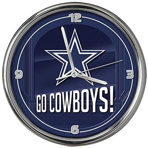The Memory Company Dallas Cowboys Go Team Chrome Clock