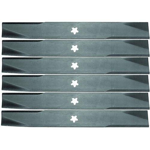 6 Pack  Tractor Supply Aftermarket Premium Replacement Xht 17 3 8  X 2 1 4  Lawn Mower Deck Blade 5 Point Star 4442262