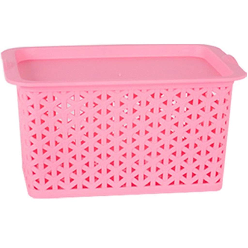 Breathable Plastic Storage Box with Cover Finishing Desktop Storage Toys Sundries Snack Underwear Yike-Storage Box