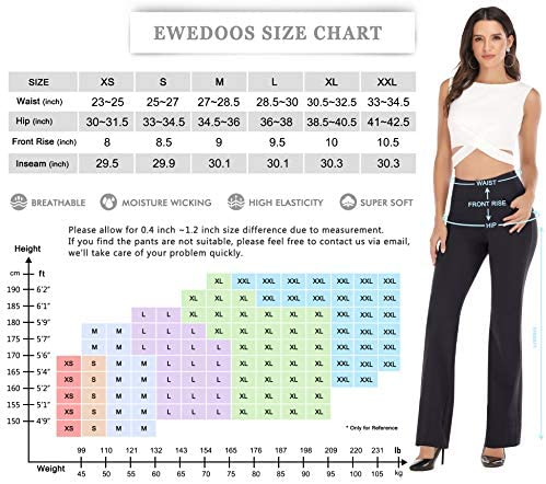Ewedoos Bootcut Yoga Pants for Women High Waisted Yoga Pants with Pockets for Women Bootleg Work Pants Workout Pants