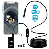Wireless Endoscope, WiFi Inspection 1200P 2.0 MP Resolution Camera, Micro USB Borescope Waterproof for Android Devices(Android 2.3+) and iPhone iOS System(iOS 6.0+).