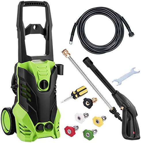 casulo Electric Pressure Washer 3000 PSI 1800W Power Washer, 1.8GPM High Pressure Washer, Professional Washer Cleaner with 4 Interchangeable Nozzles