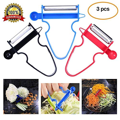 - Magic Trio Peeler Stainless Steel Multi-purpose Vegetable Peeler & Julienne Cutter Fruits Salad Shredder Tool (Multi)