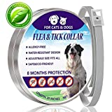 Dog Flea Treatment Collar - Flea and Tick Collar for Dog, Waterproof Flea Control for Dogs and Cats(8 Months Protection)Pet Natural Essence Oil Pest Control Collars, Stops Bites, Flea Treatment One Size Fits All Dogs 25 inch